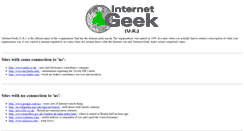 Preview of geek.org.uk
